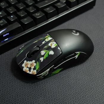 Безжична мишка със стикер с цветя