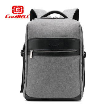 Мъжка раница за лаптоп 15,6-инчова с преден джоб