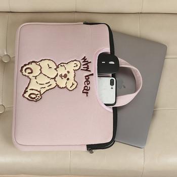Чанта за 15.6 инчов лаптоп с къса дръжка и бродерия