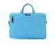 Синя чанта за 11 инчов лаптоп с къса и дълга дръжка