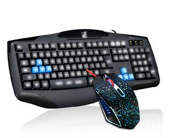 Комплект от светеща клавиатура и мишка