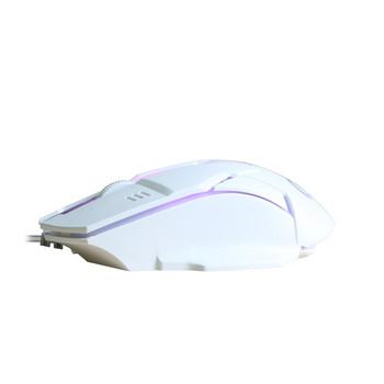Светеща кабелна  мишка с USB и 3 броя клавиши