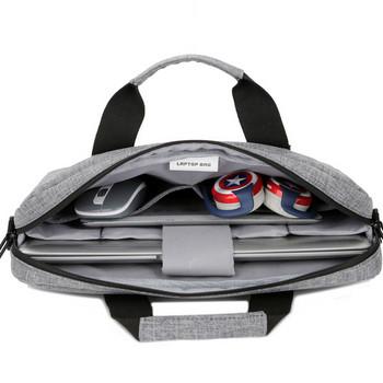 Водоустойчива сива чанта за 13 инчов лаптоп с къса и дълга дръжка