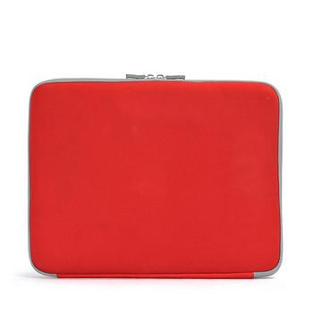 Червена чанта за 14 инчов лаптоп с къса дръжка и апликация