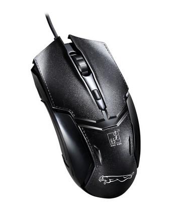 Черна кабелна мишка с броя клавиши
