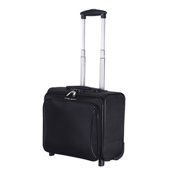 Текстилна чанта куфар с дълга метална дръжка за 16 инчов лаптоп