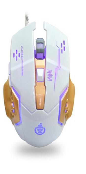 Геймърска светеща мишка с 6 броя клавиши