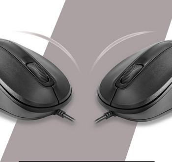 Кабелна мишка в черен цвят подходяща за офиса и дома
