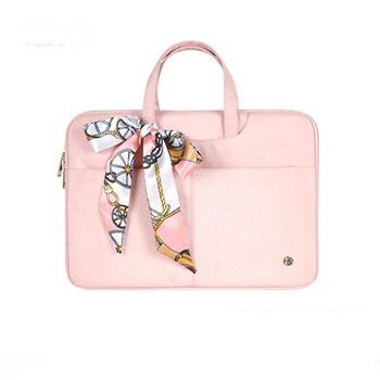 Стилна чанта за 15.6 инчов лаптоп с цветна панделка