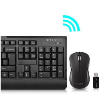 Комплект безжична мишка и клавиатура в черен цвят
