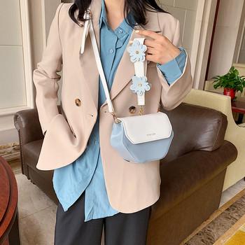 Модерна дамска мини чанта с дълга дръжка