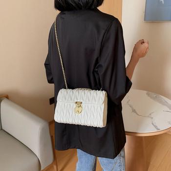 Дамска модерна чанта изчистен модел от еко кожа