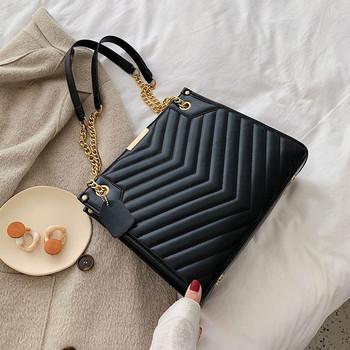 Дамска актуална чанта за рамо изчистен модел