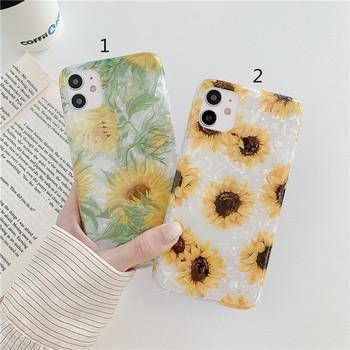 Силиконов калъф за Iphone 11  със слънчоглед - два модела