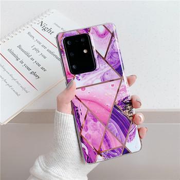 Силиконов калъф с мраморен ефект за Samsung S20 Plus