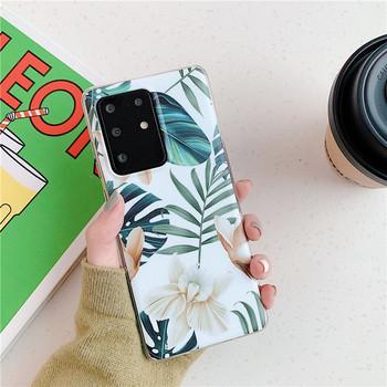 Силиконов калъф за  Samsung S20 Plus с флорален десен