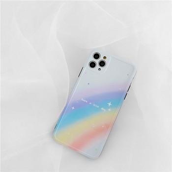 Многоцветен  калъф за Iphone 11 Pro Max и надпис