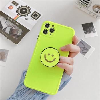 Калъф за Iphone 11 Pro Max в неонов цвят + държач