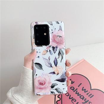 Силиконов калъф с цветя за  Samsung S20 Plus - няколко модела