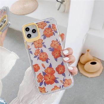 Сликонов калъф за Iphone 11 Pro Max с цветя - два модела
