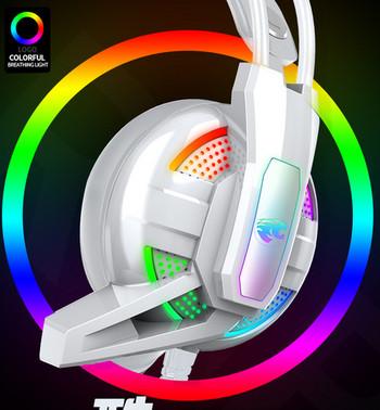 Youbai A12 7.1 геймърски светещи  слушалки с микрофон