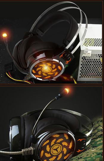 Youbai A9 Компютърни светещи геймърски слушалки с микрофон