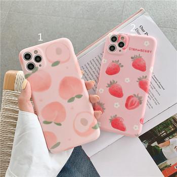 Силиконов калъф с праскови или ягоди за Iphone 11 Pro Max