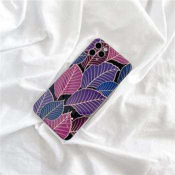 Калъф за Iphone 11 Pro Max с цветни листа