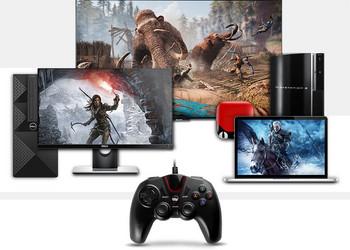 Геймпад подходящ за PC PS3 със зареждащ USB кабел