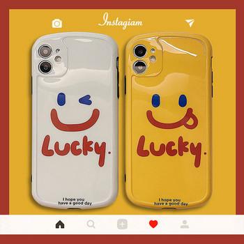Силиконов калъф с усмивка и надпис за   Iphone 11