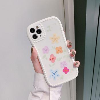 Цветен силиконов калъф за   Iphone 11 Pro  с цветя