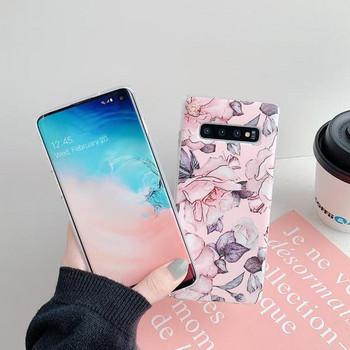 Силиконов калъф за Samsung S10  с цветя - два модела