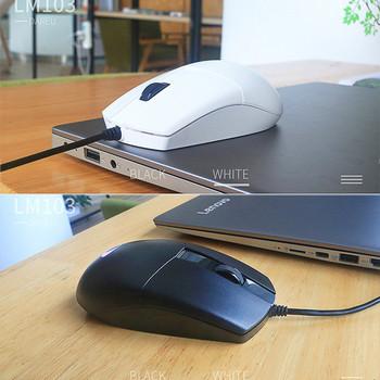 Daeryou LM103 мишка за компютър в черен и бял цвят