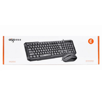 Комплект компютърна кабелна клавиатура и мишка Patriot