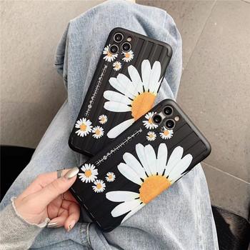 Калъф за Iphone 11 Pro Max в черен цвят с маргаритки