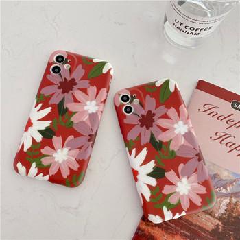 Многоцветен калъф за Iphone 11 с цветя