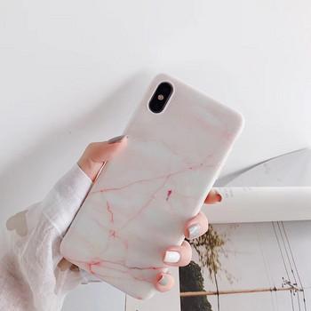Силиконов калъф за iPhone X/XS  с мраморен ефект