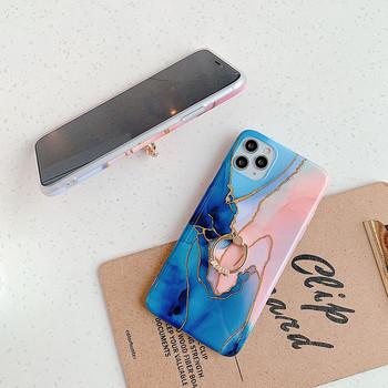 Многоцветен калъф с мраморен  ефект за iPhone 11 Pro Max