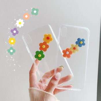 Силиконов калъф за iPhone X/XS с 3D цветя - два модела