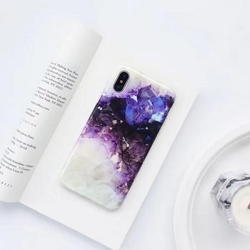Силиконов калъф с мраморен ефект за iPhone X/XS