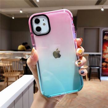Силиконов калъф за iPhone 11 в преливащи се цветове