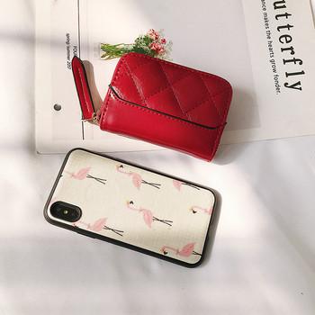 Γυναικείο πορτοφόλι με φερμουάρ - μικρό μέγεθος
