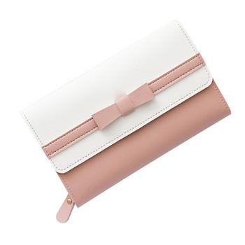 Γυναικείο έκο δερμάτινο πορτοφόλι με κορδέλα