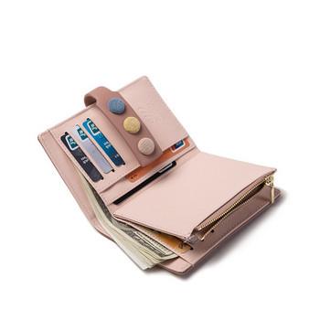 Γυναικείο έκο δερμάτινο πορτοφόλι με τσέπη για κέρματα - μικρό μέγεθος