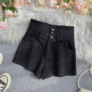 Ежедневни дамски деним къси панталони с висока талия