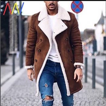 Ανδρικό χειμερινό παλτό με κουμπιά