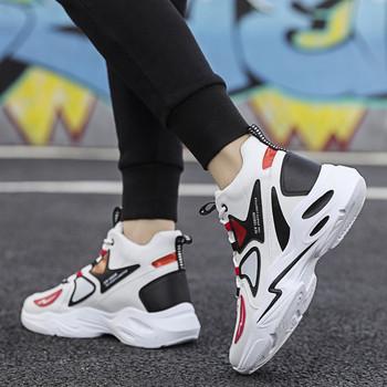 Ανδρικά αθλητικά  παπούτσια με κορδόνια σε τρία χρώματα