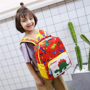 Πολύχρωμο παιδικό σακίδιο με δεινόσαυρους κατάλληλο για κορίτσια και αγόρια