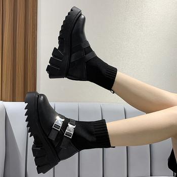 Νέο μοντέλο γυναικείες μπότες  κάλτσας σε μαύρο χρώμα