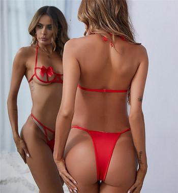 Дамско модерно бельо от две части с панделки